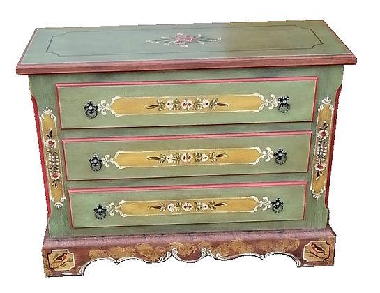 Anno 1800, altgrün, Kommode, 3 Schubladen