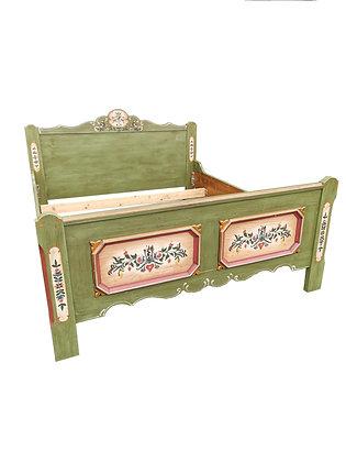 Anno 1700, altgrün, Bett 140 cm