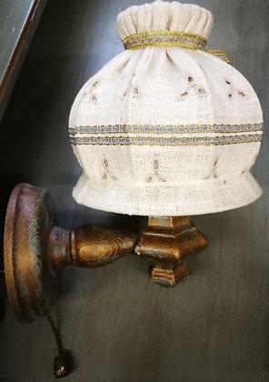 Anno 1700, altblau, Wandlampe, rund