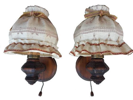 Anno 1700, braun antik, Lampen, Wandlampen-Set