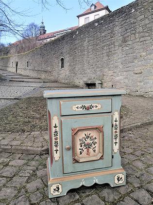 Anno 1700, altblau, Kommode, 1 Tür