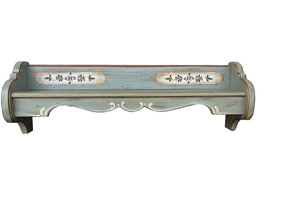 Anno 1700, altblau, Wandregal, Länge 96 cm