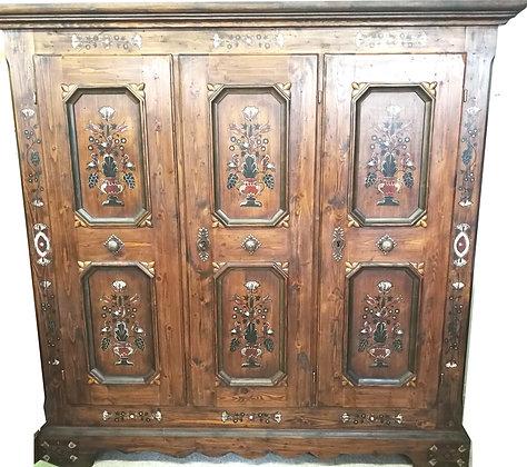 Anno 1700, braun antik, Bauernschrank, 3 Türen