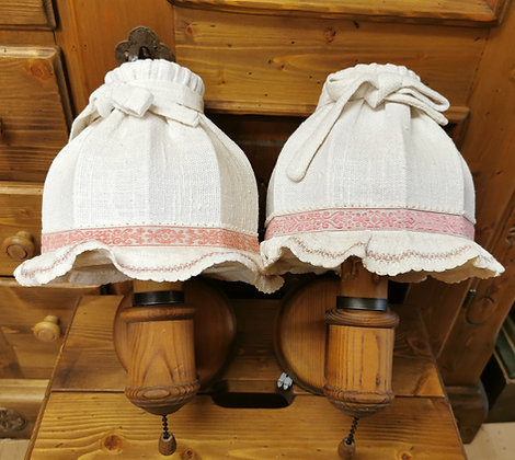 Anno 1600, Wandlampen-Set, Schirm weiß-rosa