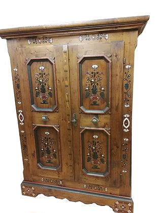 Anno 1700, braun antik, Bauernschrank, 2 Türen