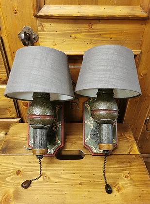 Anno 1800, altgrün, Wandlampen-Set