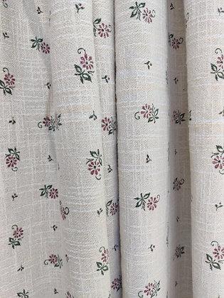 Voglauer Vorhang-Set, beige, Blumen altrosa