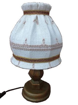 Anno 1700 altgrün, Tischlampe, weiß