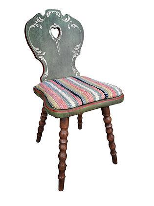 Anno 1800, altgrün, Stuhl, ohne Lehne