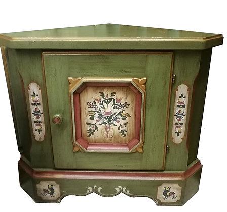 Anno 1700, altgrün, Eckunterschrank