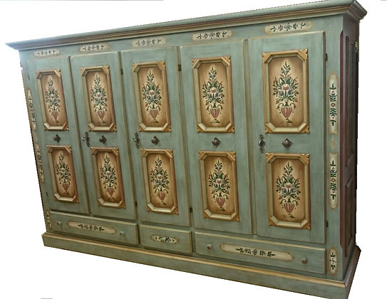 Anno 1700, altblau, Schrank, 5 Türen