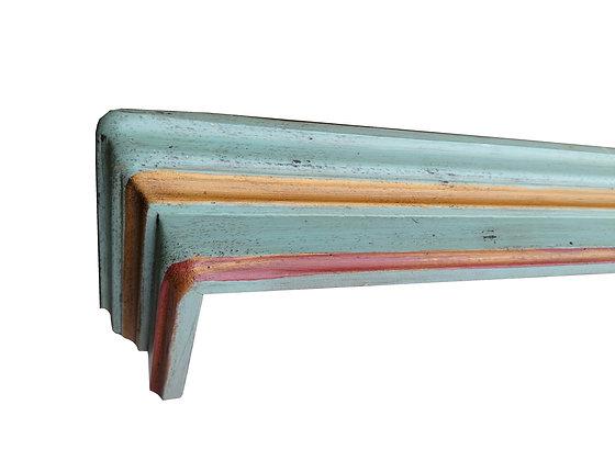Anno 1700, altblau, Vorhangschiene, 200 cm Länge