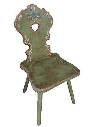 Anno 1700, altgrün, Stuhl, ohne Lehne