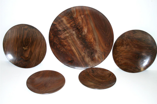 various walnut platters