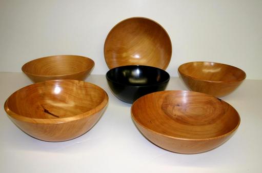 various salad bowls