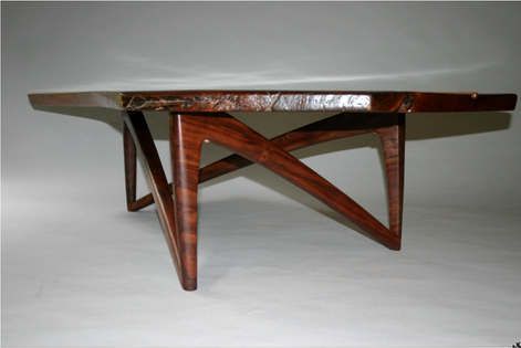 claro walnut coffee table (leg view)