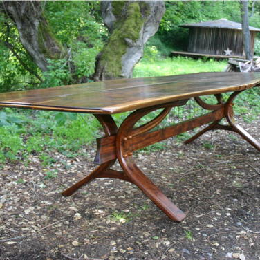 """golden gate table 144"""" by 42"""" w/ trestle base"""