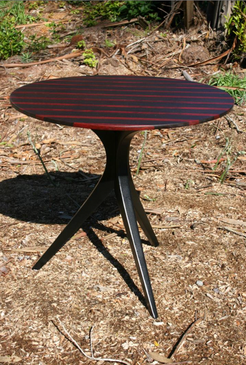 "24"" by 22"" high wenge and ebonized legs"