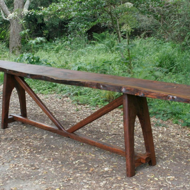 """13 foot by 16"""" by 32"""" high walnut side table"""