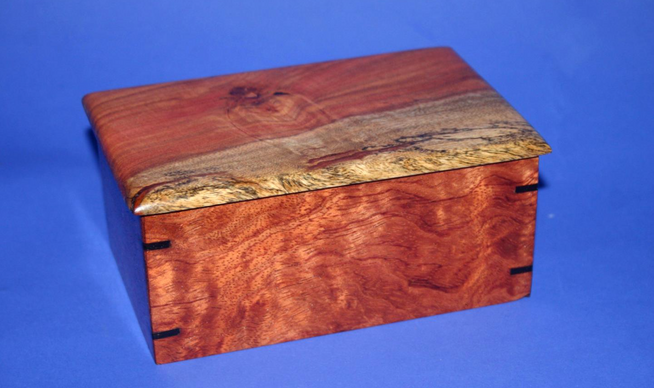 carob and bubinga box