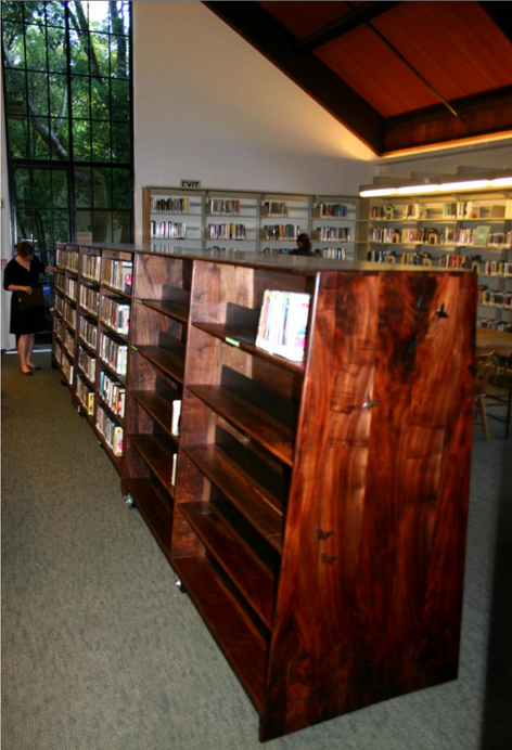 Mill Valley Library: new book cases