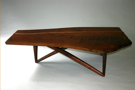 claro walnut coffee table /elm inlay