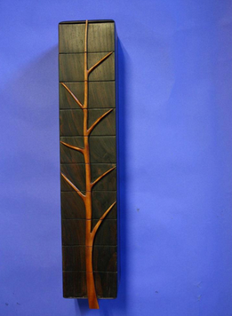 Jewelry Box, Fallen Tree: Rosewood, Madrone, Gold Leaf