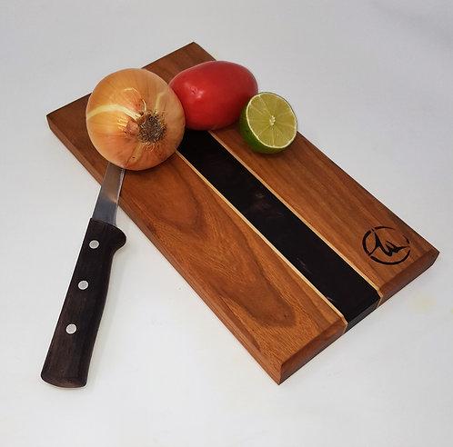 Walnut Burl and Cherry Bar Cutting Board