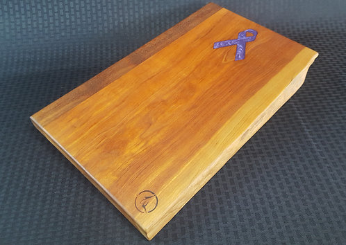 Purple Ribbon and Cherry Live Edge