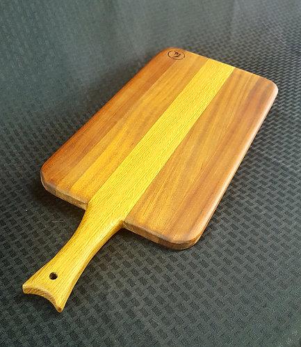 Large Mahogany Board with Oak Handle