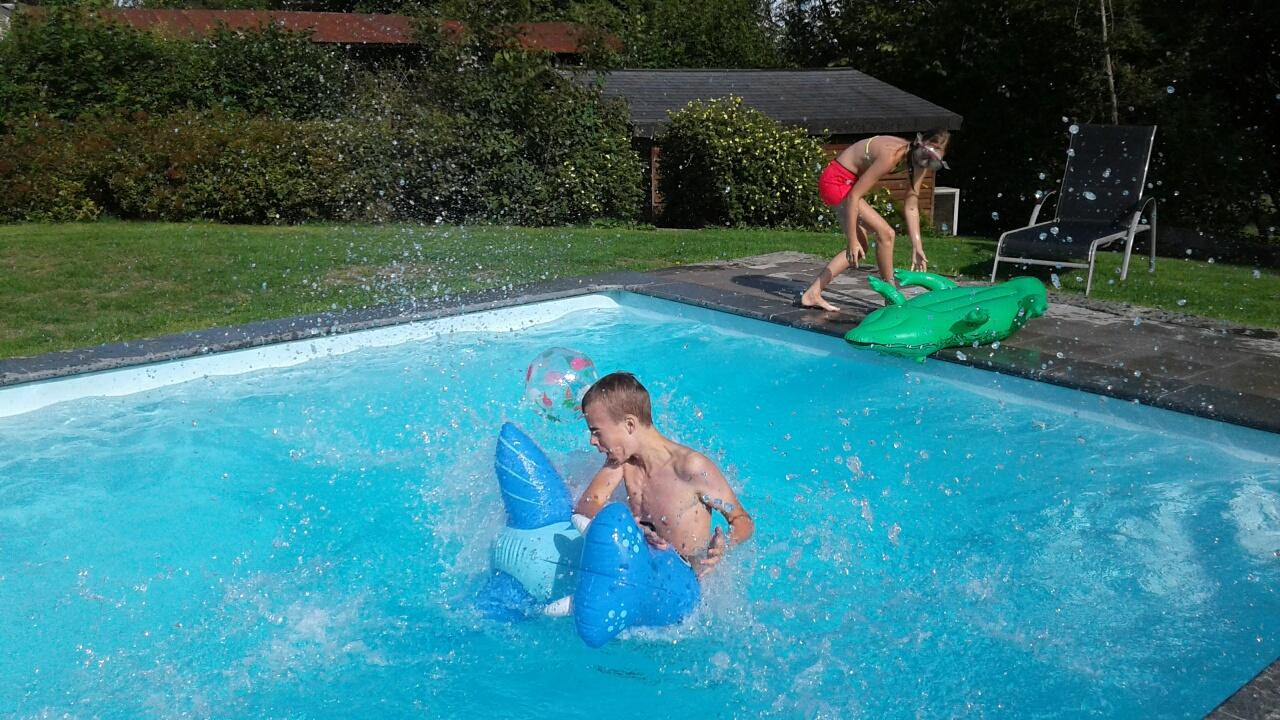 verwarmd privé zwembad