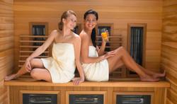 sauna voor 6 pers dus alle ruimte