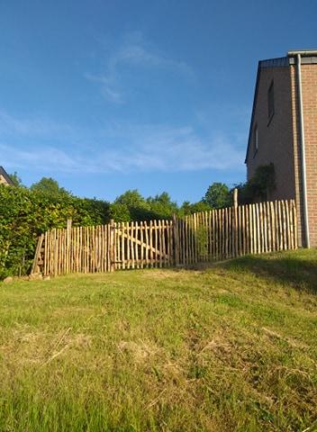 nieuw tuinhek straatzijde