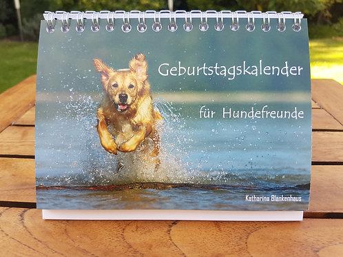 Geburtstagskalender für Hundefreunde A6 Tischkalender