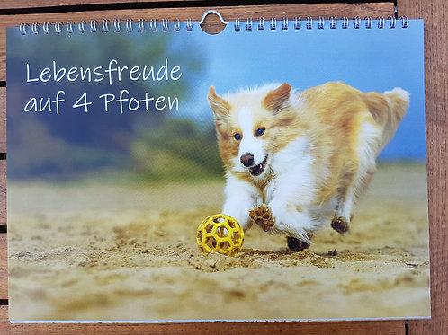 """Kalender """"Lebensfreude auf vier Pfoten"""" A4"""