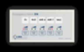 Notfallsignalgerät 5-fach mit LED-Anzeige zur Überwachung medizinischer Gase