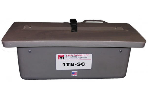 """1TB-SC TOOL TRAY WITH SLIDE-ON COVER, 19 X 8 X 8"""", OUTSIDE MOUNT, GRAY"""