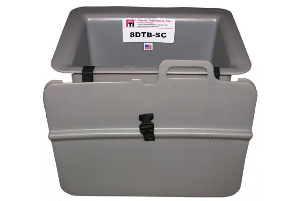"""8DTB-SC TOOL TRAY WITH SLIDE-ON COVER, 15 X 10 X 8.5"""", OUTSIDE MOUNT, GRAY"""