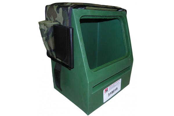 """318019 SPLICER SEAT-TOOL BOX, 12 X 8.5"""" TOOL OPENING AND CUSHION, CAMO GREEN"""