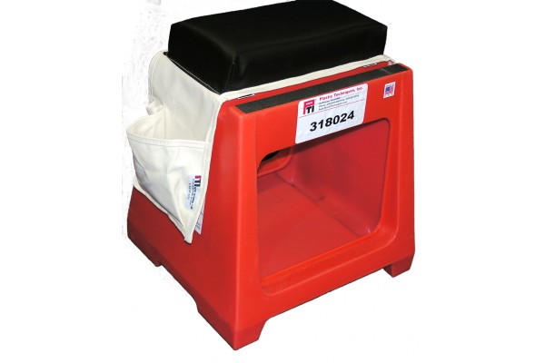 """318024 SPLICER SEAT-TOOL BOX WITH TWO 9.5 X 12"""" TOOL OPENINGS, STEP, SEAT AND CUSHION"""