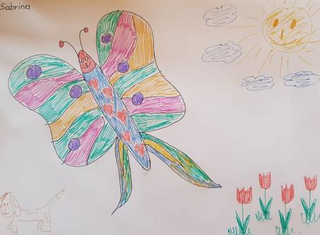 Schmetterlings - Malwettbewerb