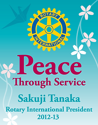 Rotary International's theme in 2012 was Peace Through Service.