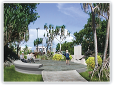 An artist's daytime rendition of the RCNG Peace Memorial.