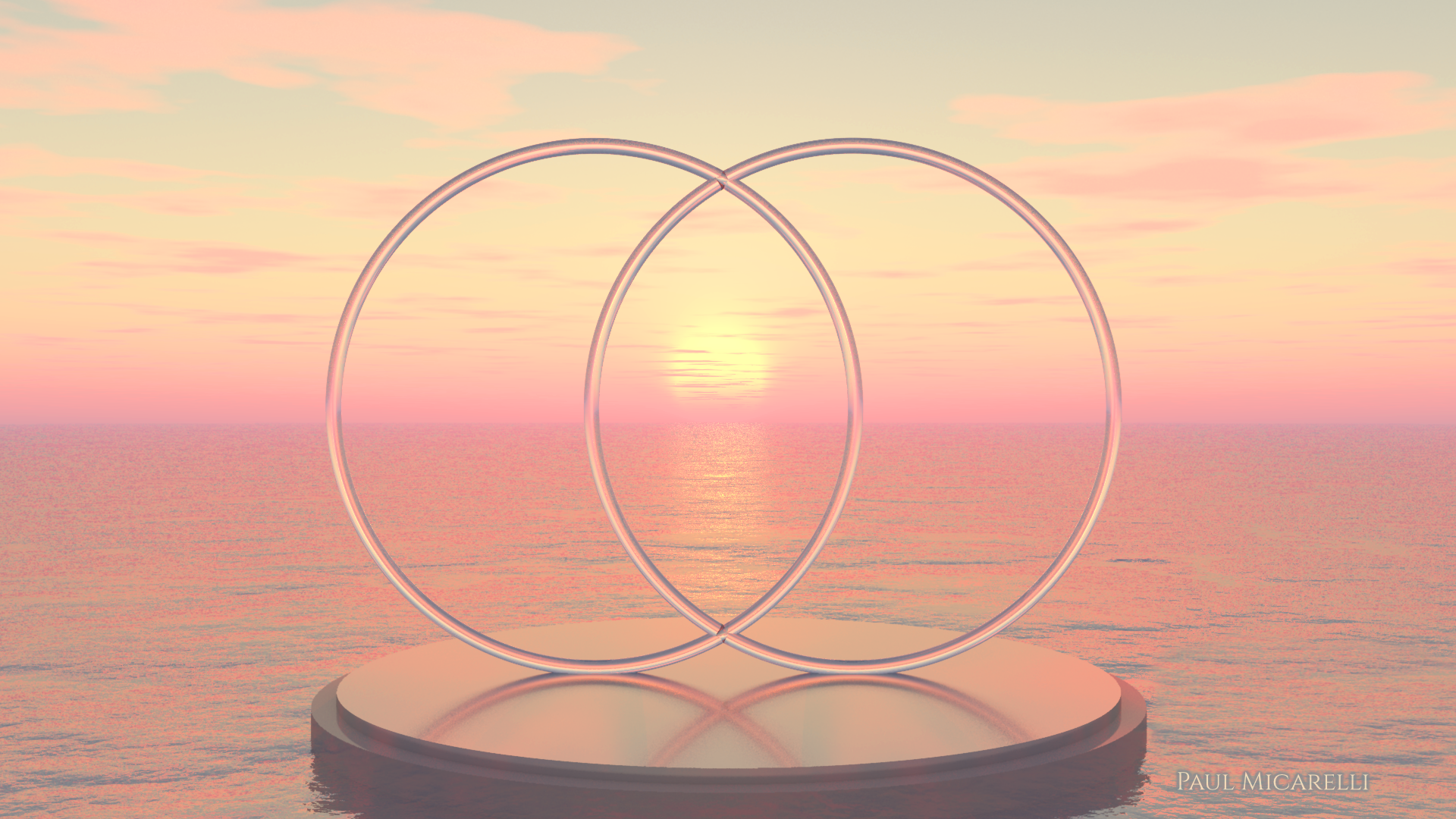 Vesica Pisces Ocean Sunrise-Paul Micarel