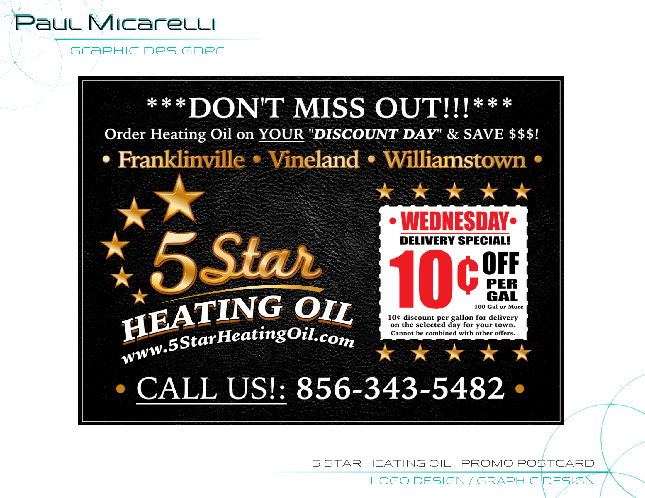 Paul-Micarelli-5 Star Heating Oil-Promo