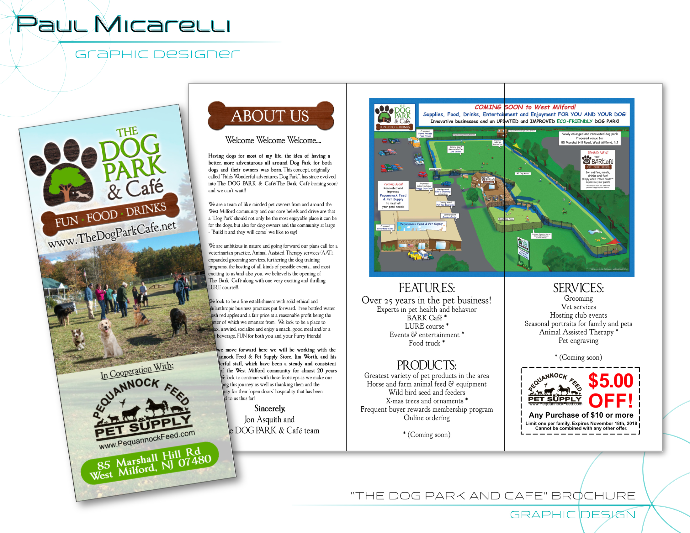 Paul-Micarelli-The Dog Park Cafe-Brochur