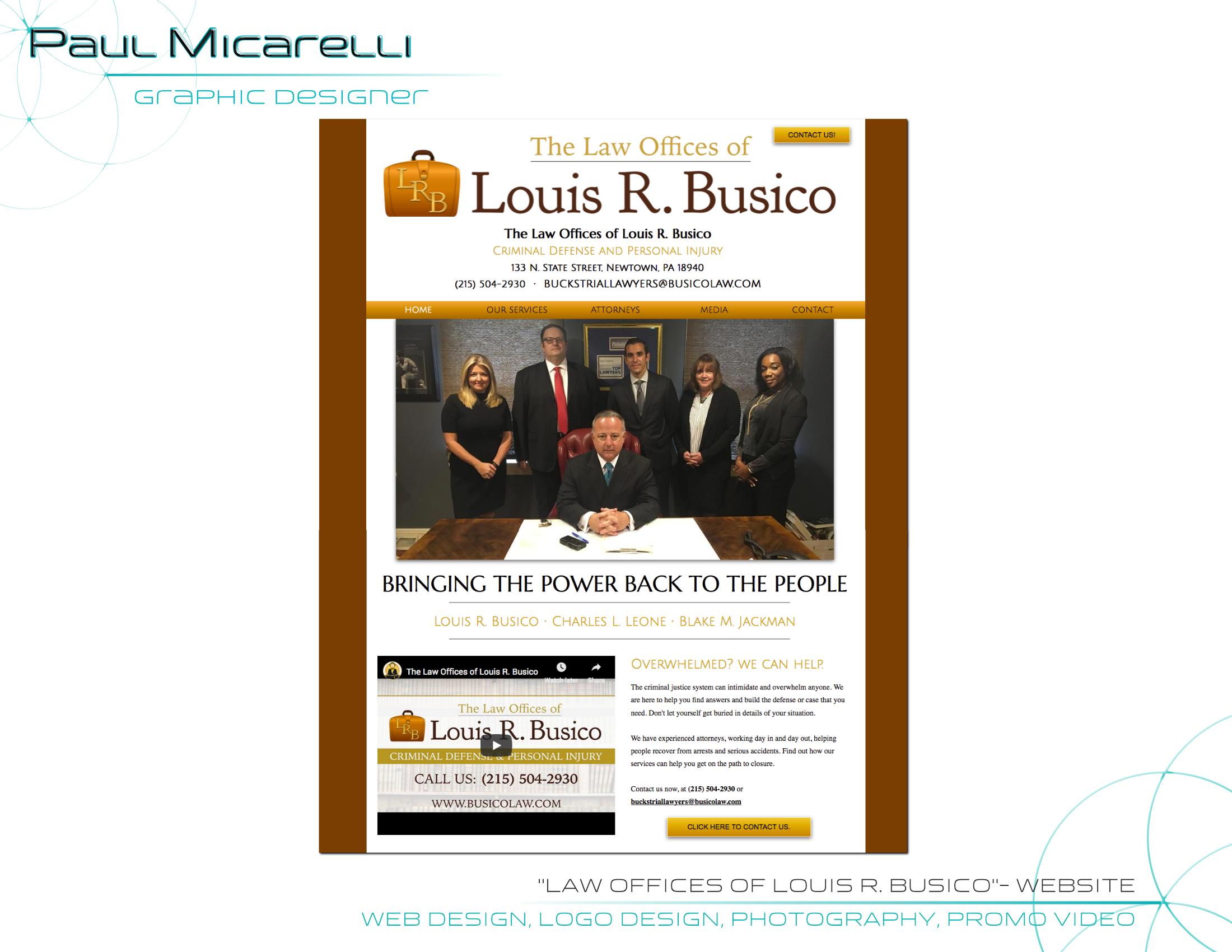 Paul-Micarelli-Busico Law Website