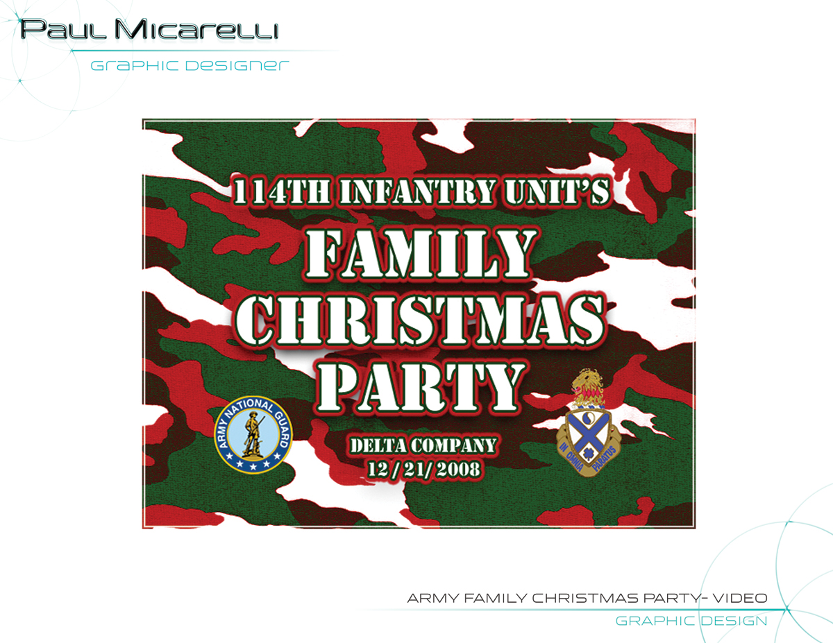 Paul-Micarelli-Army-Xmas-Party Video