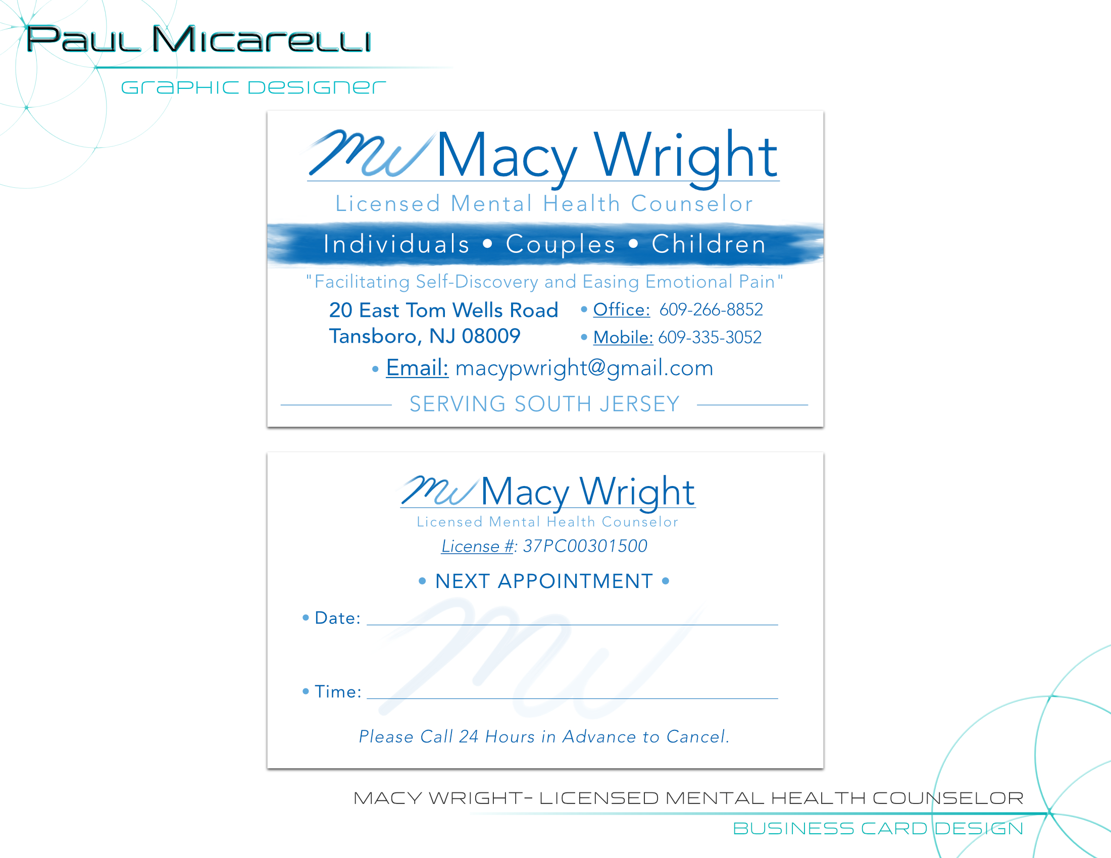 Paul-Micarelli-Macy Wright Business Card