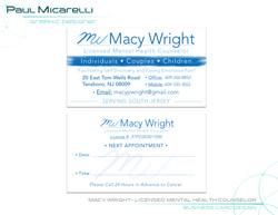 Paul-Micarelli-Macy Wright Business Card